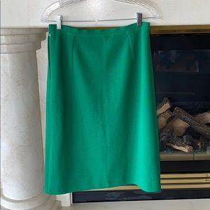 Vintage Tailored 100% Knit Wool Skirt